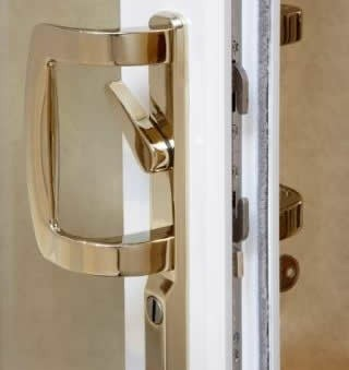 compressed patio door lock